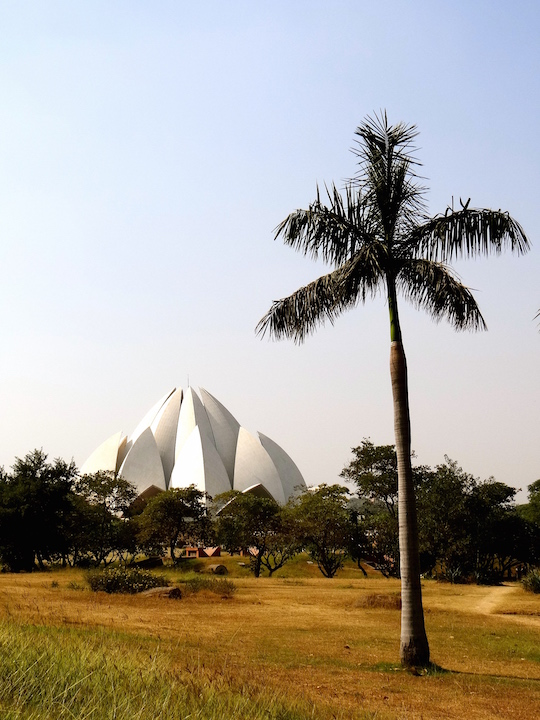 Delhi Lotus Temple Inde Spiritualité Hindouisme New Delhi