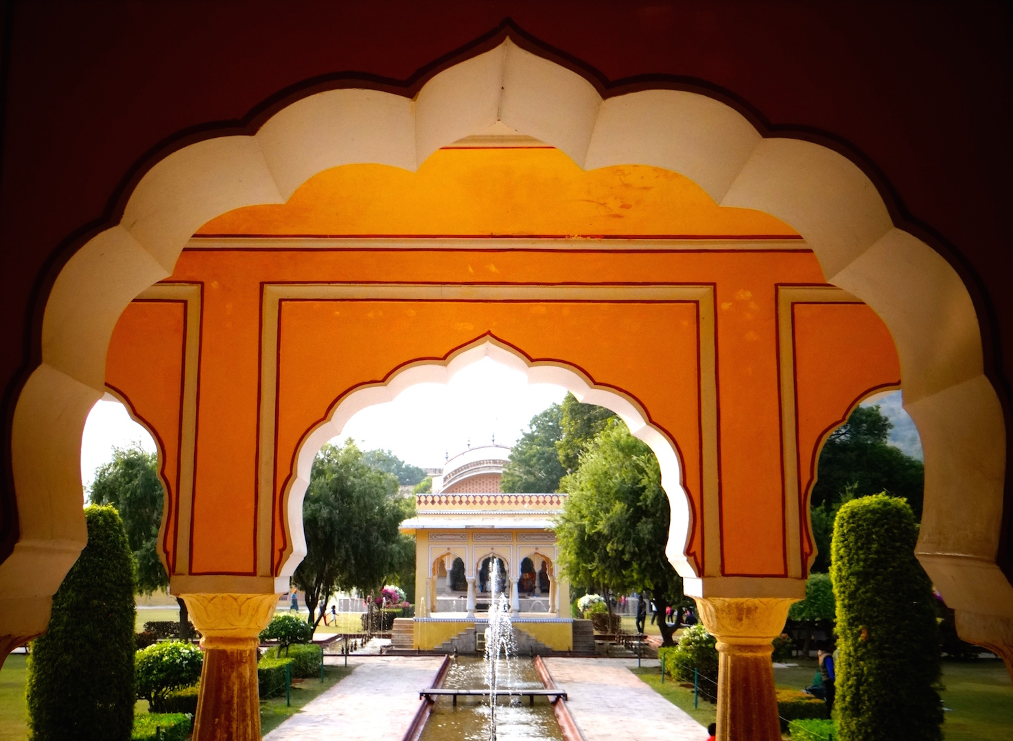 Jaipur Inde Rajasthan Ville Rose Kanak Bagh Jardins