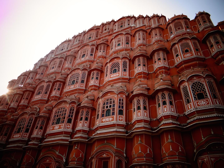 Jaipur Rajasthan Inde Old City Pink City Ville rose Hawa Mahal Palais des Vents