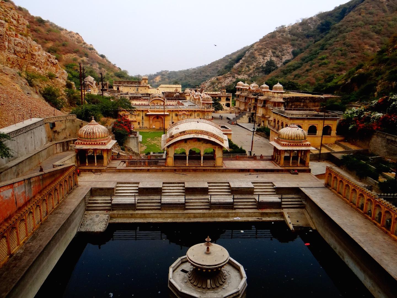 Monkey Temple, Galtaji Temple, Jaipur, Rajasthan, Inde, Inde du Nord