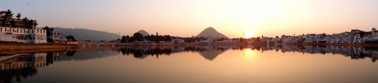 Pushkar, Rajasthan, Inde, Inde du Nord,  Ville Sacrée, Lac, Ghats