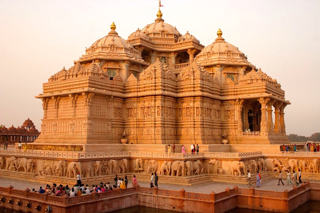 Delhi Akshardham Temple Inde Spiritualité Hindouisme New Delhi