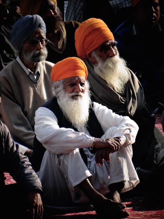 Sikhs au Temple d'Or