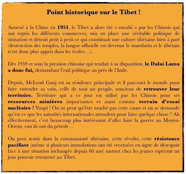 Tibet point historique